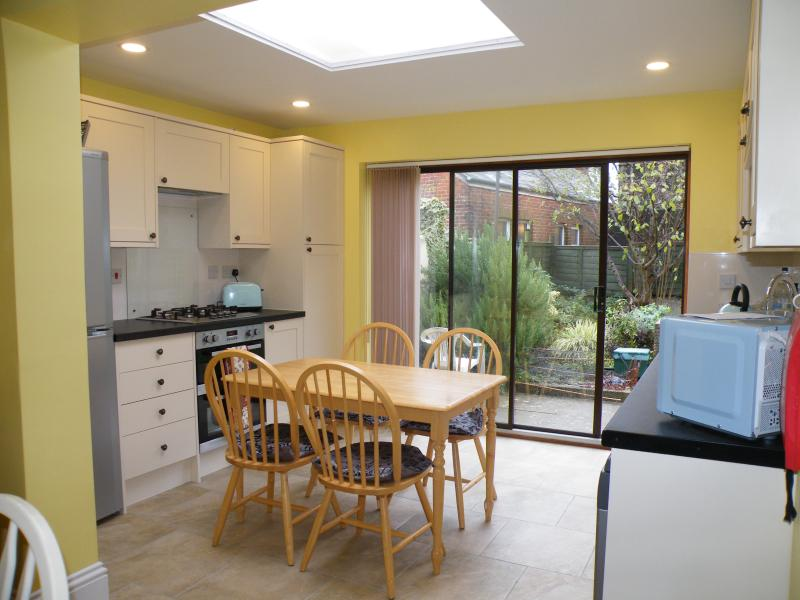 Kitchen with Sliding Doors to the Garden