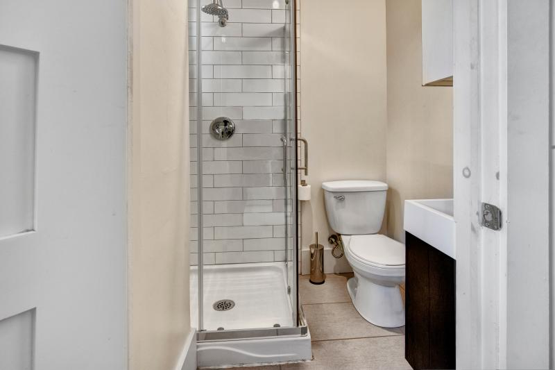 Bathroom renovated with shower