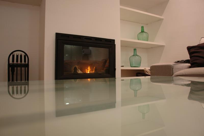 The fireplace to enjoy the House.