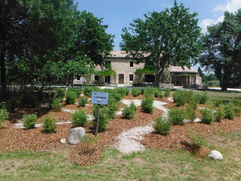 a quinta provençal com seu labirinto de planta nova