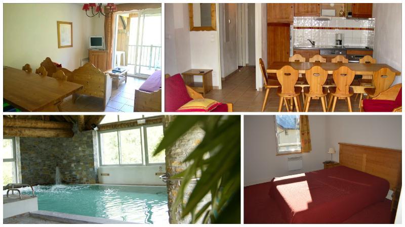 Saint Lary T5 4*10personnes piscine sauna spa ski, holiday rental in Gouaux