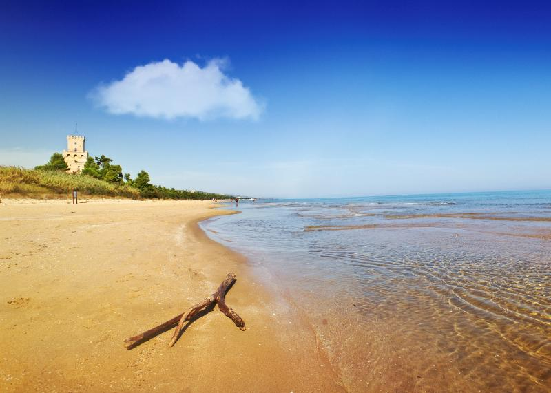 Pineto - one of the best beaches, if not the best, in Abruzzo is only half an hour from Casa Bianca.