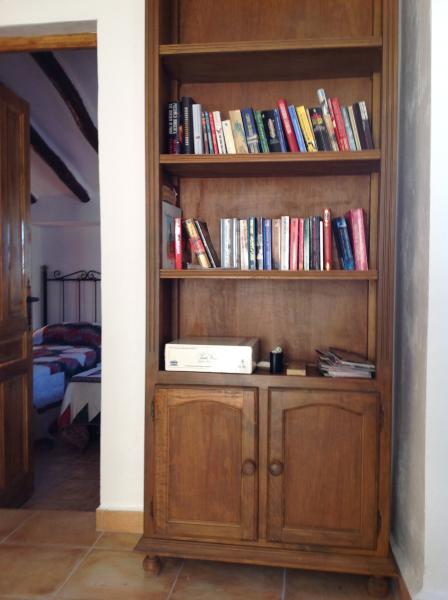 Plenty of books and games in the Stables lounge