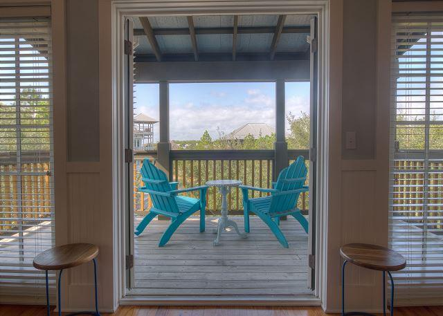 Relax on the porch with your morning coffee!