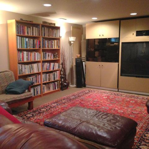Second Living Room with Library