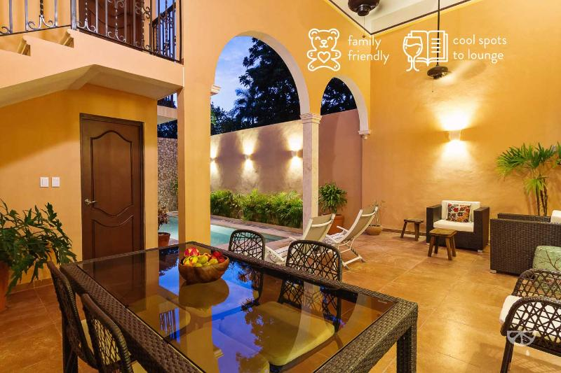 Elegant getaway for families in Mérida heart., location de vacances à Merida