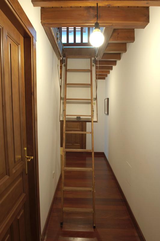 Escalera acceso altillo.