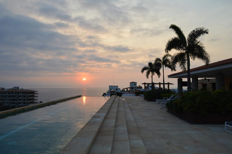 Sunsets from our pool terrace deck