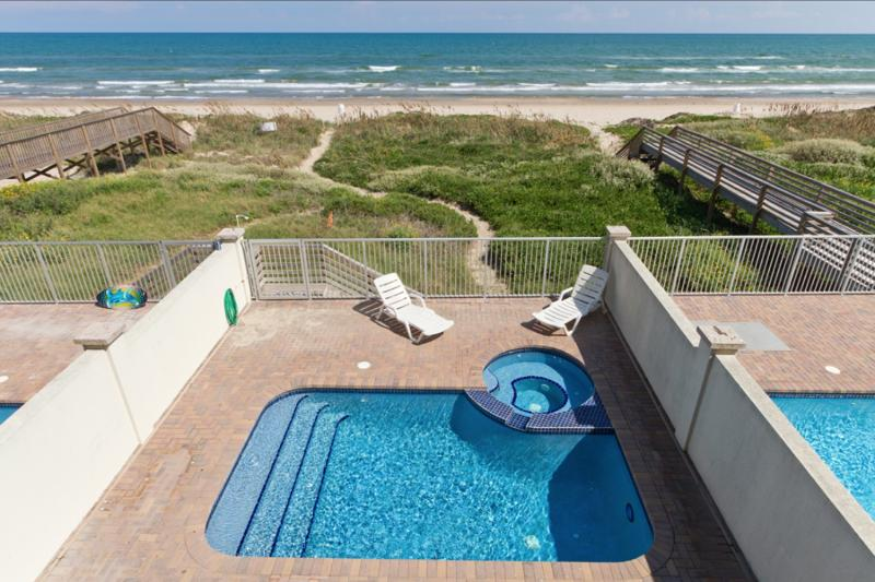 Private heated pool and beach access
