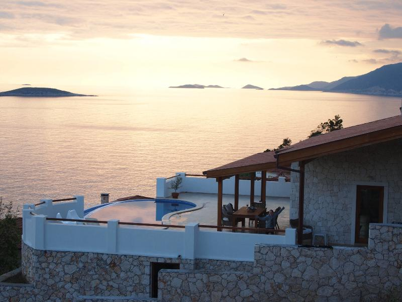 Sun sets at villa Kelebek is one of the best in Kas