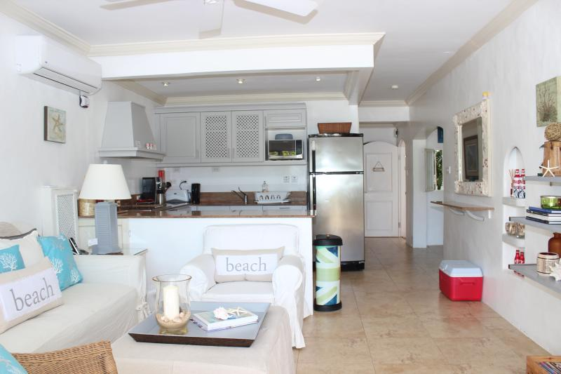 Air conditioned living and kitchen area