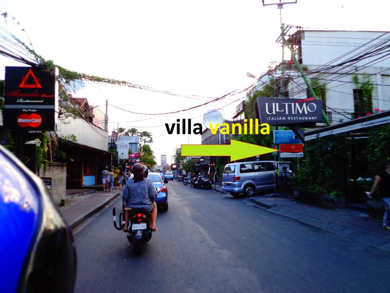 Vanilla Villa location is exactly right behind Ultimo Italian Restaurant, Seminyak