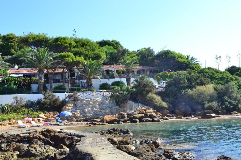 maison de vacances vue avec accès privé à la plage
