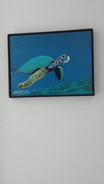 Havssköldpaddan målning av Abdon Muniz