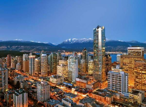 Beautiful Vancouver...my building is just to the right of the ShangriLa