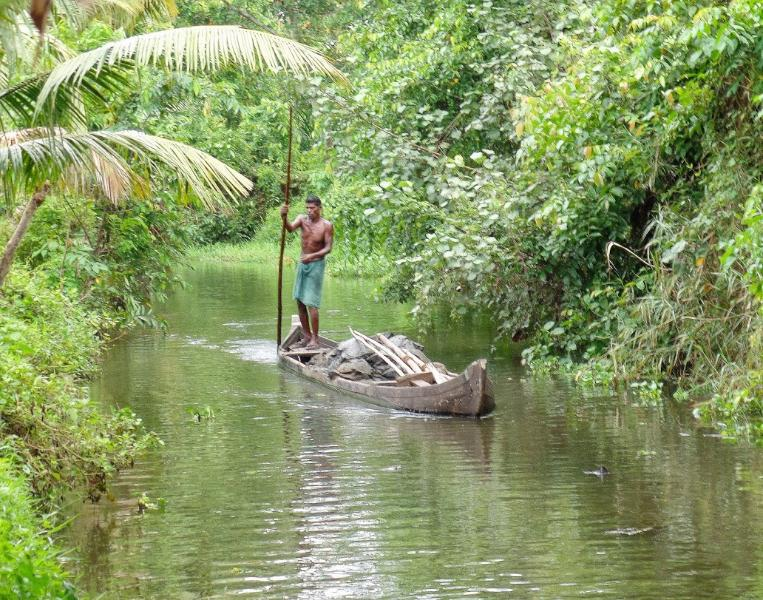 A Village scene at the backwaters