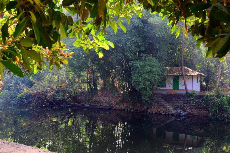 A scene at River side cottage at Maya Heritage