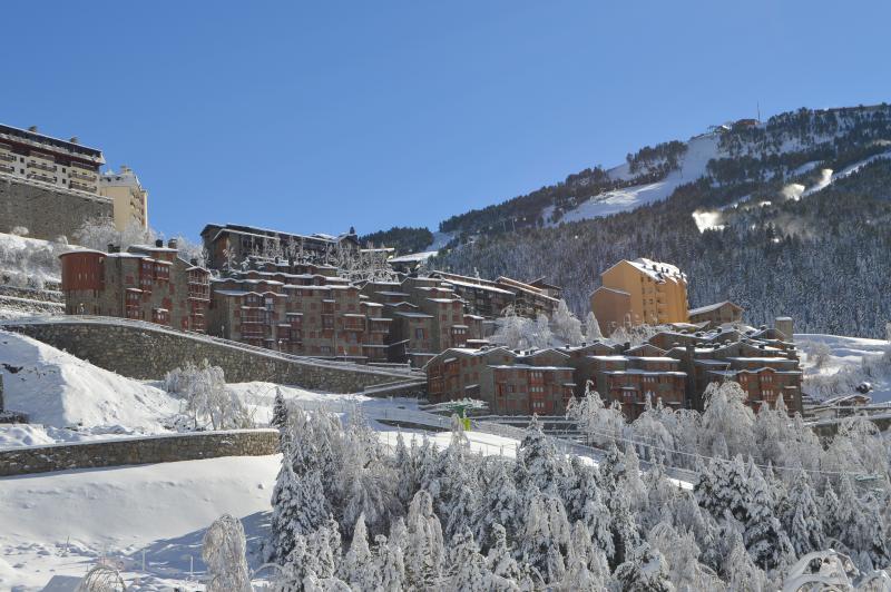 Vistas de la urbanización después de una buena nevada