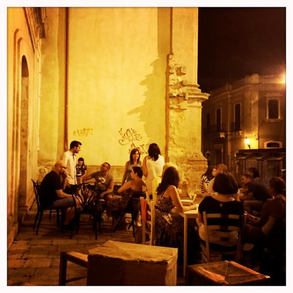 Walk up to Modica Alta to see the city lights below and enjoy an aperitivo at an outdoor cafe.