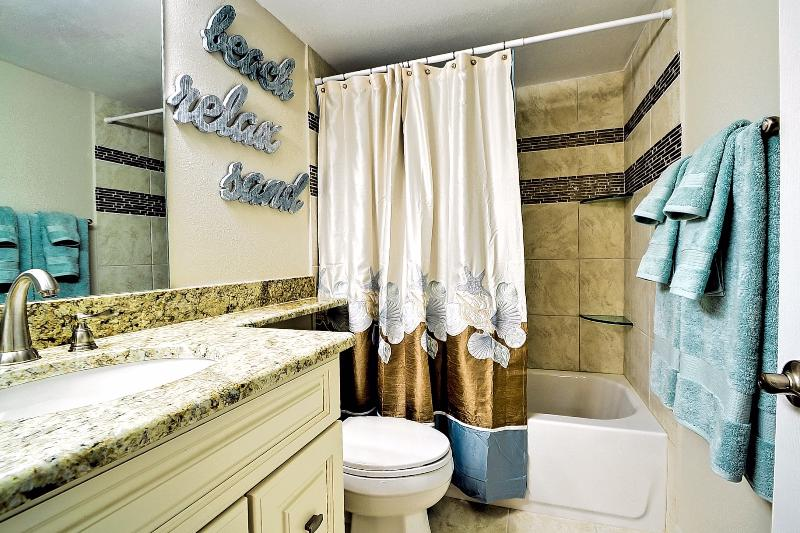 Totally remodeled bathroom with shower/tub