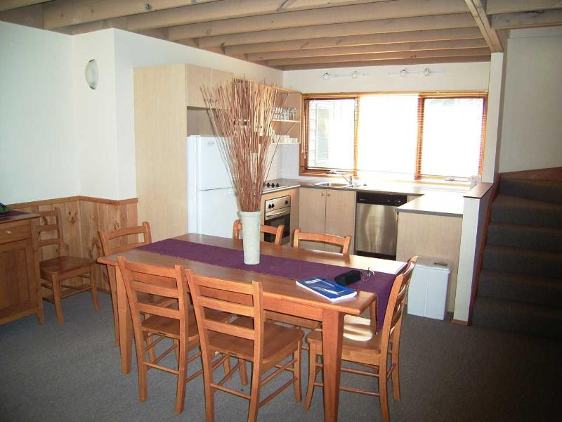 Dining room & fully equipped kitchen.