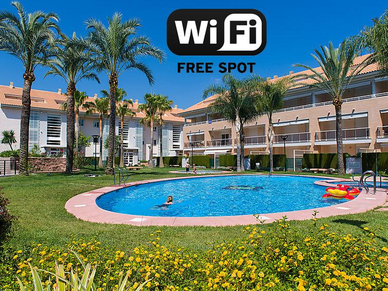 Golden Gardens - apt para 4 personas con piscinas, wifi gratuito, terrazas y aire acondicionado.