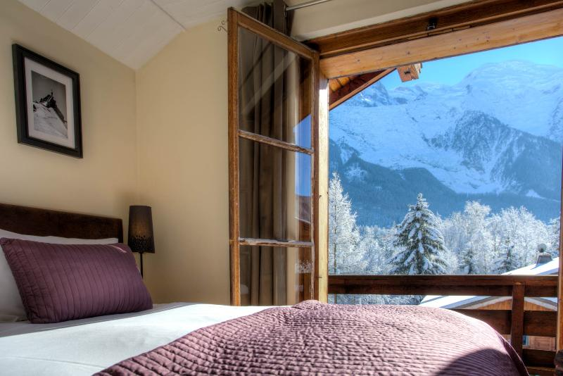 Views of Mt Blanc from the bedrooms