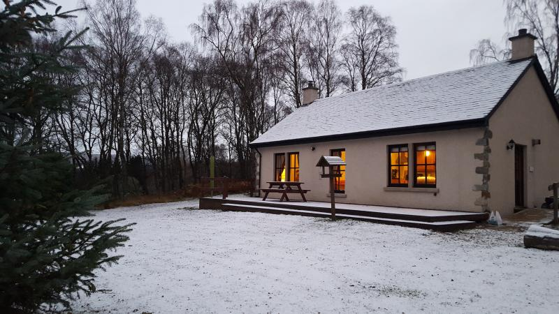 Cosy cottage on a winters evening