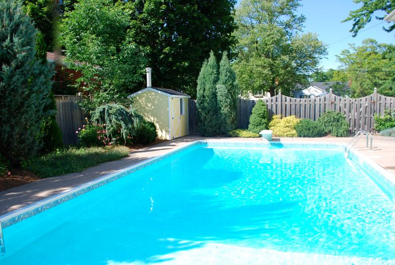 Gran piscina climatizada con forro nuevo. Jardín maduro y privado.