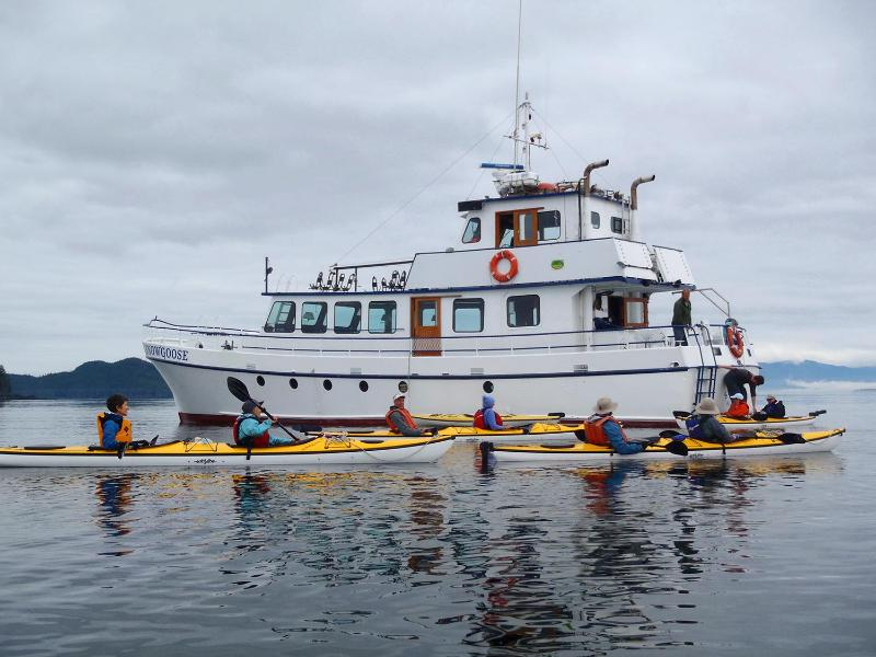 Snowgoose includes 6 eddyline Kayaks for guests to use