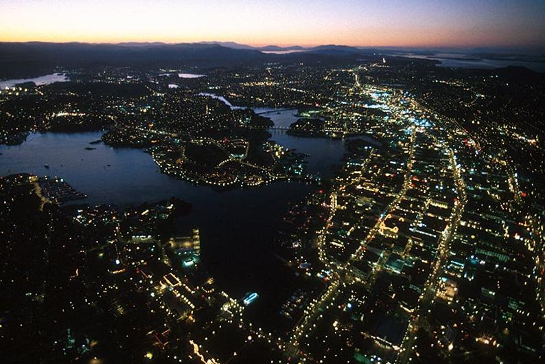 Downtown Victoria aerial photo