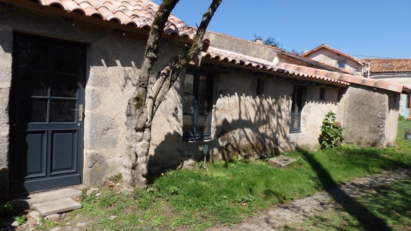 der Eingang des Bauernhauses