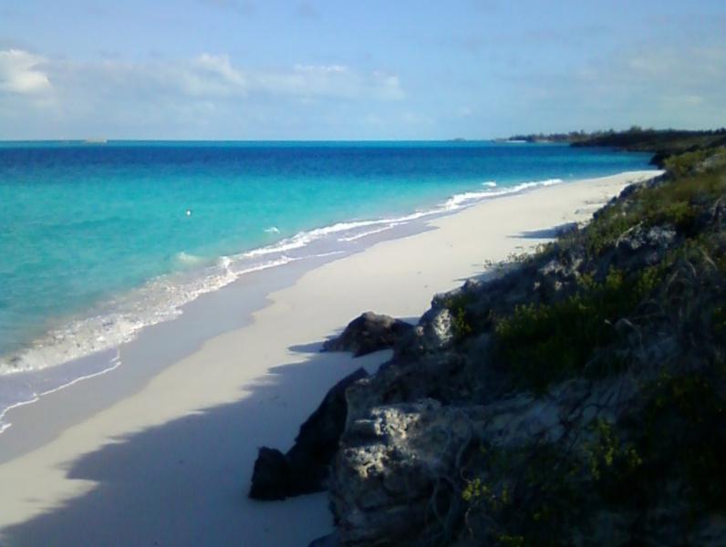 A nearby beach, less than a mile away