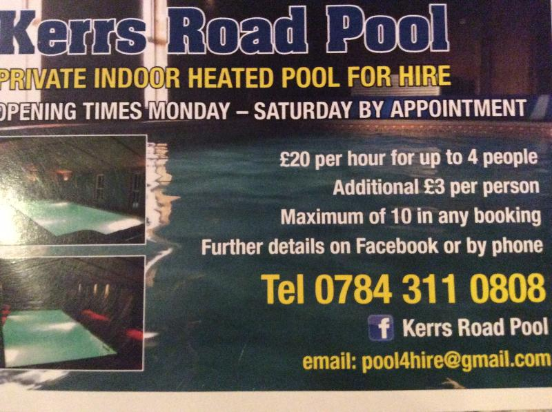 NEW. This amazing pool is within walking distance from Orchard Cottage. Exercise in any weather.