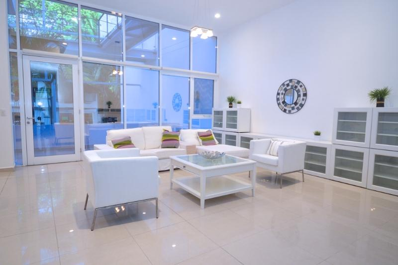 The welcoming living room