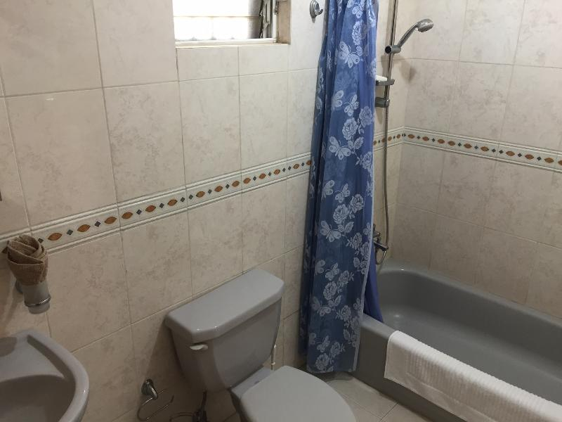 The shower and bath