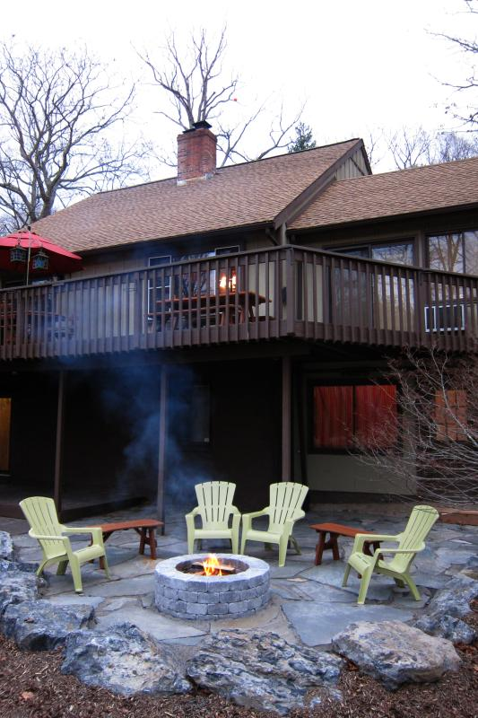Come enjoy the fire pit year round!