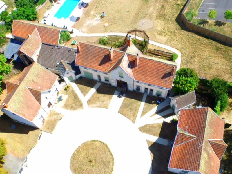ariel view of Pavilions