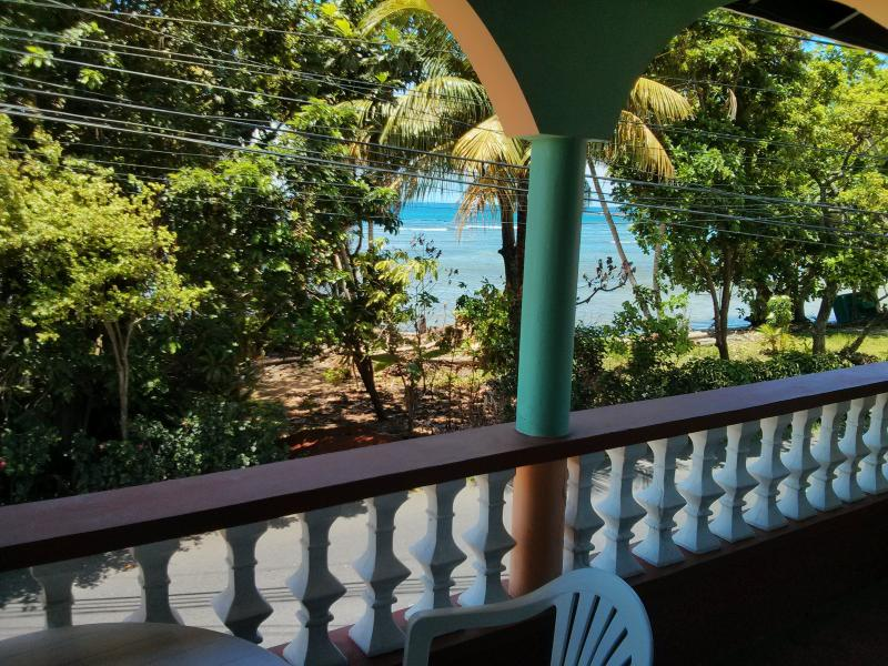 view from the front verandah. relax and have a cup of coffee and look at the atlantic ocean.