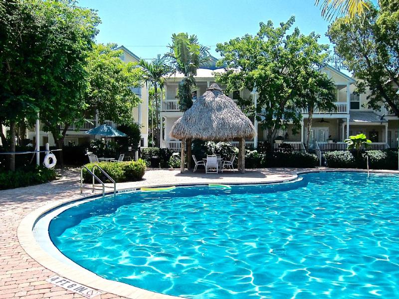 Beautiful salt water pool in the center of the community.