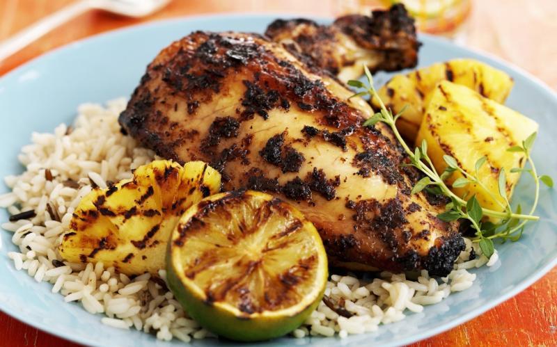 Spicey Jerk Chicken at Jazzy Glen's Place