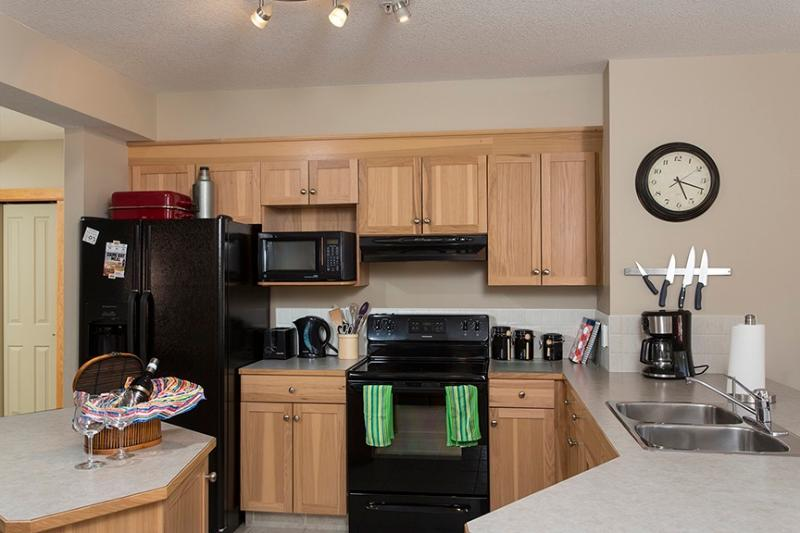 Kitchen has everything you need to cook at home