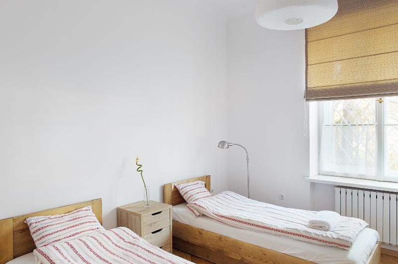 Deuxième chambre à coucher. Deux lits simples, conçus pour se connecter et former un lit double si vous le souhaitez.