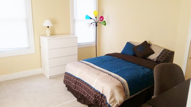 Spacious bright master bedroom on the 2nd floor.