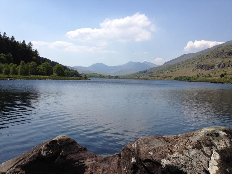 Lake Padarn is less than 5 minutes walk away