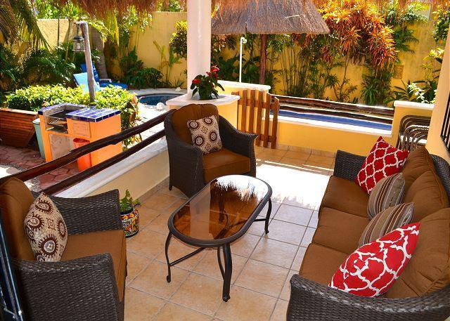 Villa private patio.
