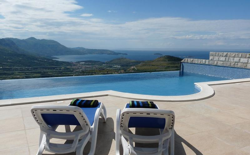 Luxury Villa Olive with private infinity pool and incredible view to the Dubrovnik Riviera