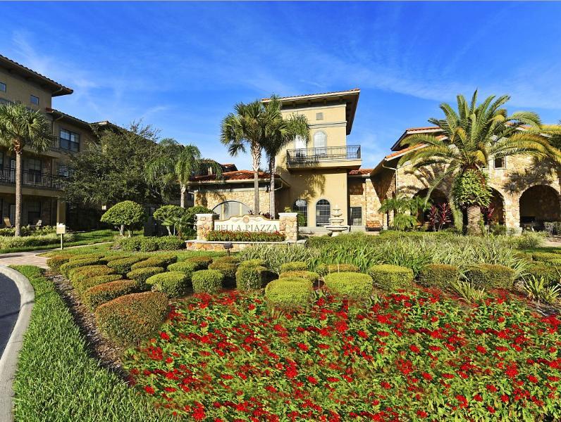Resort garden view
