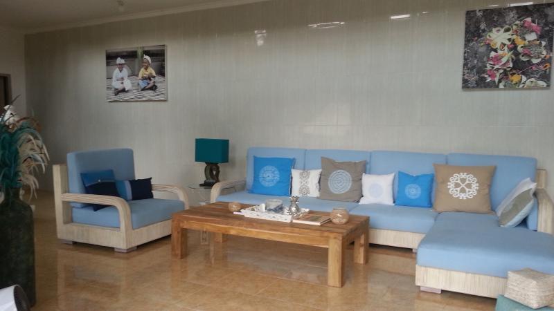 Living room at garden level.