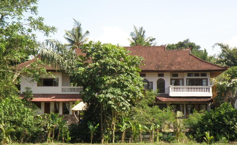 View of Saraswati house from the rice fields.